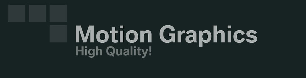 Motion Graphics - High Quality
