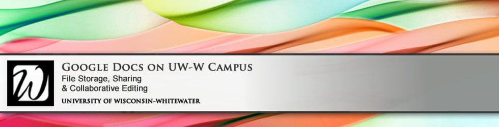 Google Docs on UWW Campus
