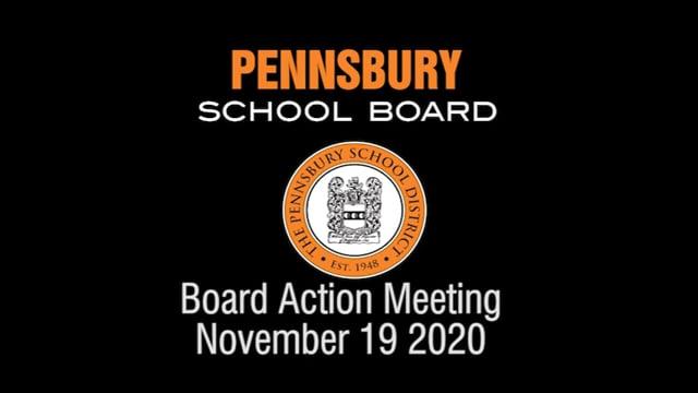 Pennsbury School Board Meeting for November 19 2020