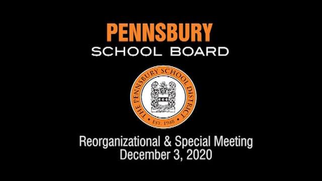 Pennsbury School Board Meeting for December 3, 2020