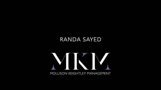 Showreel for Randa Sayed