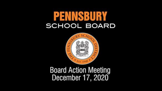 Pennsbury School Board Meeting for December 17, 2020