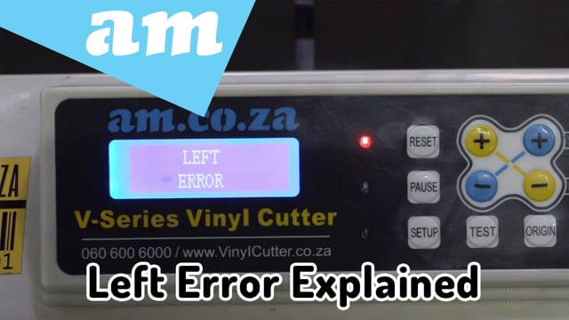 #SortIT V-Series Vinyl Cutter Left Error Explained, How Origin Setting and Cutting Size Works