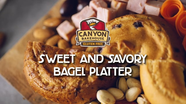Sweet and Savory Bagel Platter