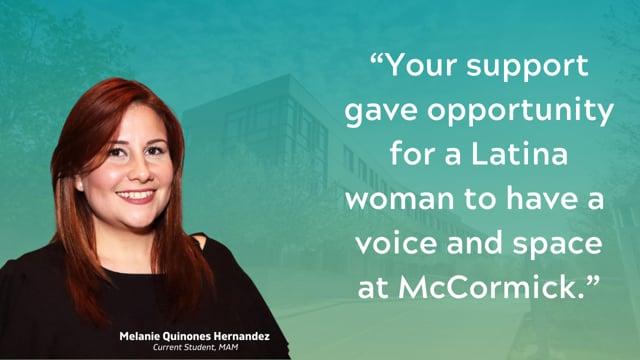 Melanie Quinones Hernandez Says Thank You!