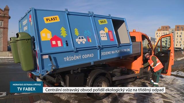 Centrální ostravský obvod pořídil ekologický vůz na tříděný odpad