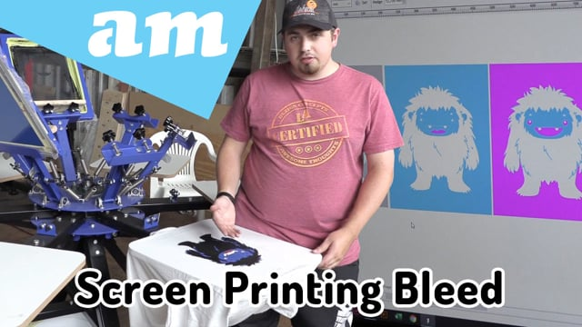 Bleed-over Method Multiple Colour Screen Printing by Vinyl and Self-Tensioning Screen Frame Revisit