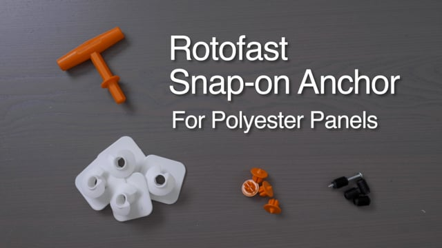 Rotofast Polyester Snap-on Panel Anchors Installation Video