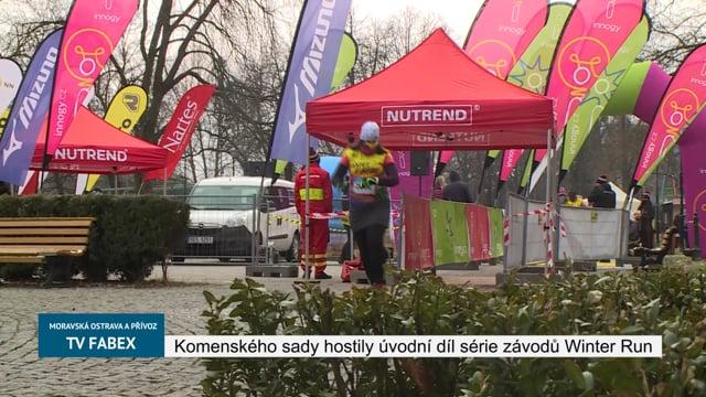 Komenského sady hostily úvodní díl série závodů Winter Run