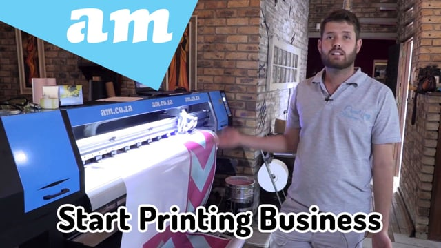 Start a Printing Business with Large Format Printer for ECO-Solvent, UV and Sublimation Printing