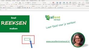 Snel reeksen maken in Excel