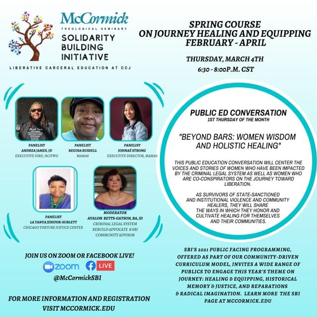 Public Education Conversations: Beyond Bars: Women, Wisdom & Healing