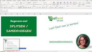 Gegevens snel splitsen of samenvoegen in Excel