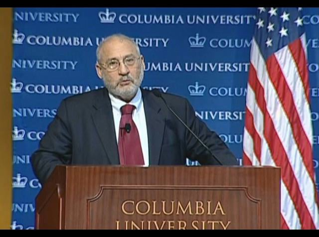 Joseph Stiglitz, University Professor at Columbia University, Co-Chair of the Committee on Global Thought and Nobel Laureate, discusses his views on sovereign wealth funds and sustainable investment in his keynote address, presented at the conference,