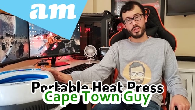 Handheld Portable Heat Press Sublimation Printing Machine Reviewed by The Cape Town Guy Full Video