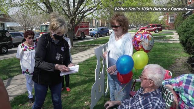 Walter Krol's 100th Birthday Caravan
