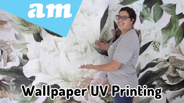 Wallpaper with Adhesive Back Printed on Large Format UV Printer for Instant Dry Vibrant Colours