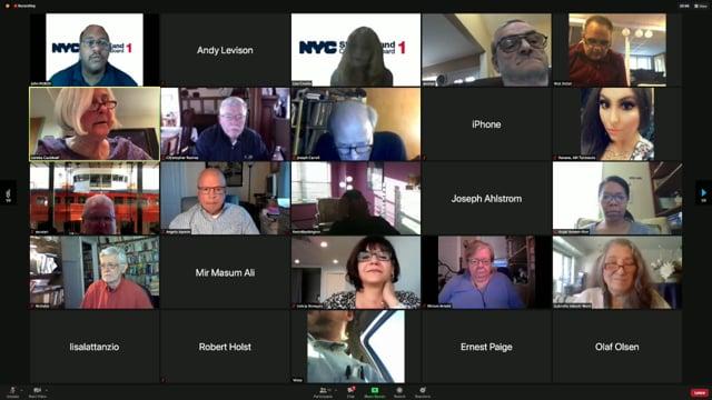 Community Board 1, Staten Island, NY - meeting held April 13, 2021
