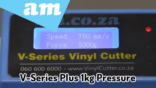 More Pressure on V-Series Plus, 1000g Pressure Enhancement for Thicker and Tougher Vinyl Cutting