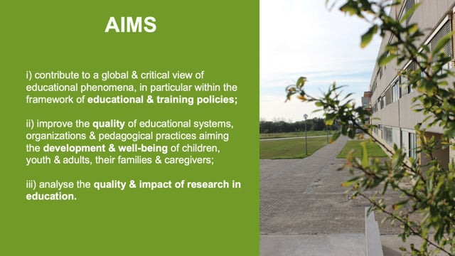 CIDTFF Research Group 3 - Policies, evaluation and quality in education