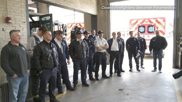 Cicero Firefighters Become Paramedics