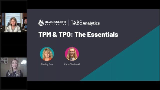 Blacksmith TPM & TPO, The Essentials (5/4/21)