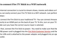 fire stick customer service