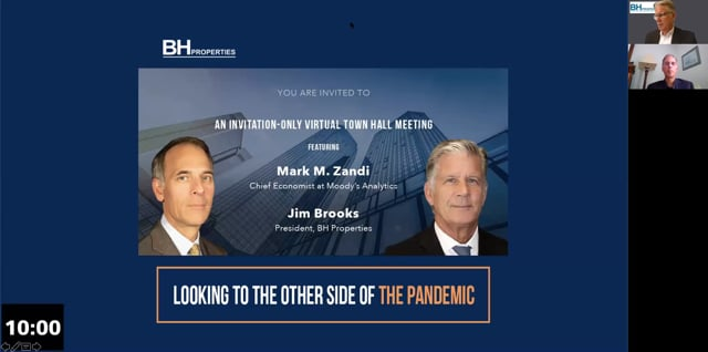 An Invitation-Only Virtual Town Hall Meeting Featuring Mark M. Zandi and Jim Brooks