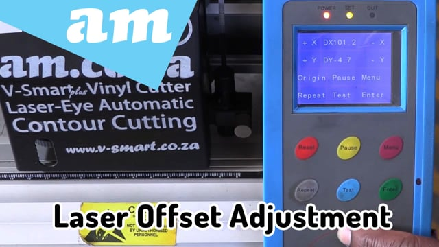 Contour Cutting Laser Alignment Offset Adjustment for V-Smart (Plus) and V-Auto Vinyl Cutters