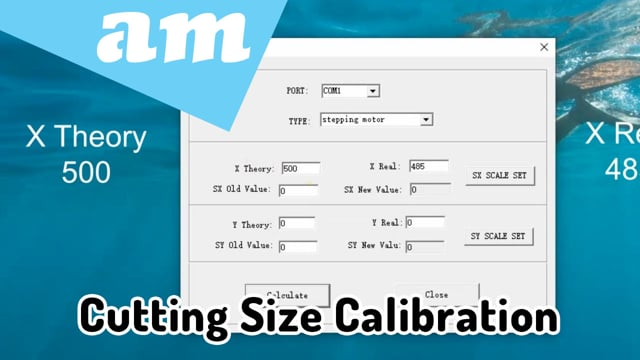 Scale Adjustment for Cutting Size Calibration for V-Series, V-Smart and V-Auto Vinyl Cutters