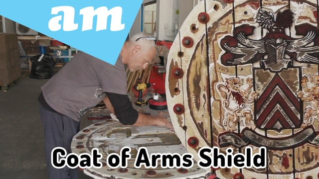 Coat of Arms Shield Restored by 16mm Plywood CNC Laser Engraving & Cutting on TruCUT Laser Machine