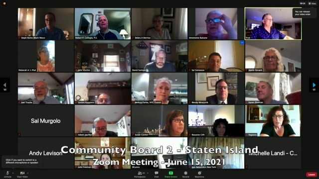 Community Board 2, Staten Island, NY - June 15, 2021