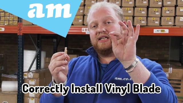 Correctly Install Vinyl Blade to Copper Coated Aluminium 1KG Holder of V-Smart/V-Auto Vinyl Cutters