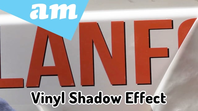 Create Shadow Effect by Two Colours of Vinyl Overlap Each Other Tips and Tricks Demonstrated