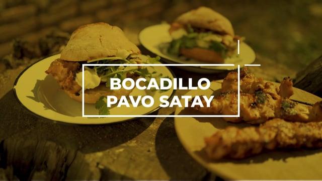 Bocadillo de pavo satay - Los picnics de Amanda
