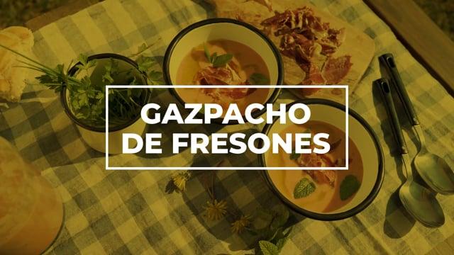 Gazpacho de fresones - Los picnics de Amanda