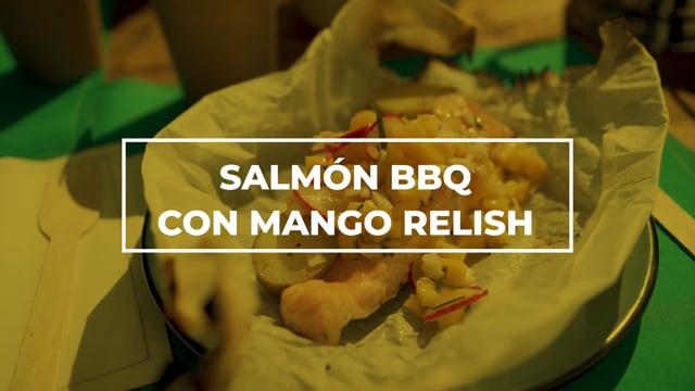 Salmón barbacoa con mango relish - Los picnics de Amanda