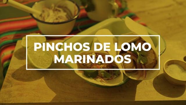 Pinchos de lomo marinado - Los picnics de Amanda