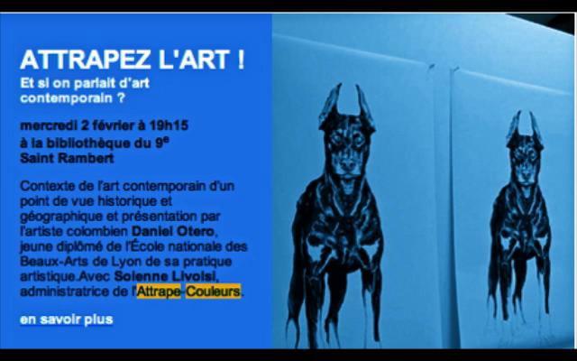ATTRAPE-COULEURS exposition DANIEL OTERO jusqu'au 5 mars