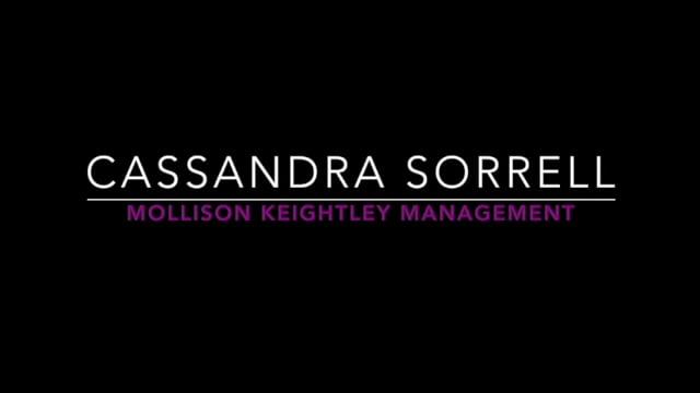 Showreel for Cassandra Sorrell