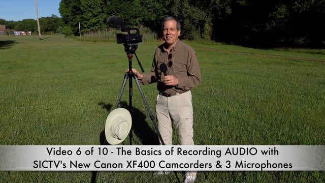 SICTV Instructional Video 6 of 10 - Basics of Recording AUDIO with SICTV's Field Production Kit