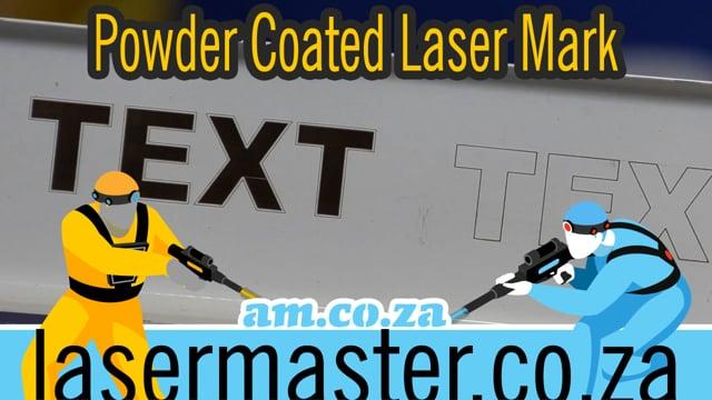 Learning Laser Marking on Powder Coated Steel Surface by LabelMark Fiber Laser Marking Machine