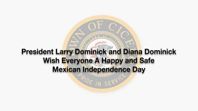 President Dominick & Diana Dominick Wish Everyone A Happy & Safe Mexican Independence Day