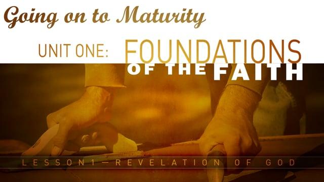 Lesson 01 - Revelation of God