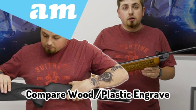 Compare Wood and Plastic Laser Engraving Result to Understand How Laser Engraving Machine Works