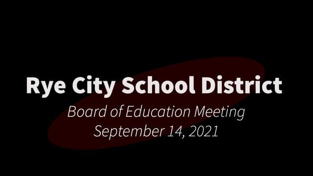RCSD BOE 09-14-2021