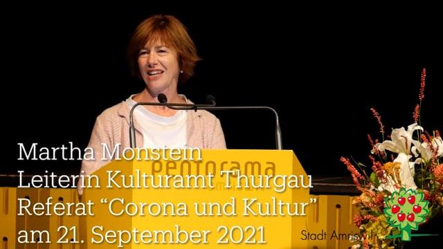 Netzwerkabend: Referat von Martha Monstein zu Kultur und Corona