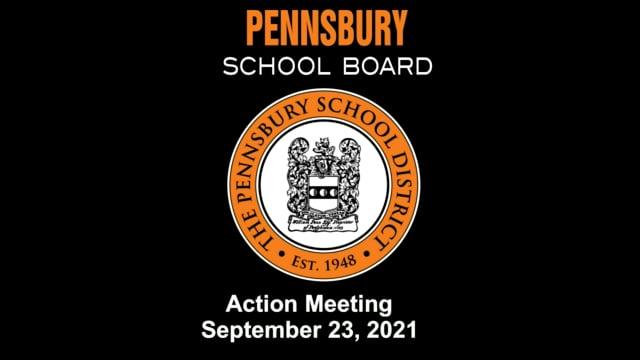 Pennsbury School Board Meeting for September 23, 2021
