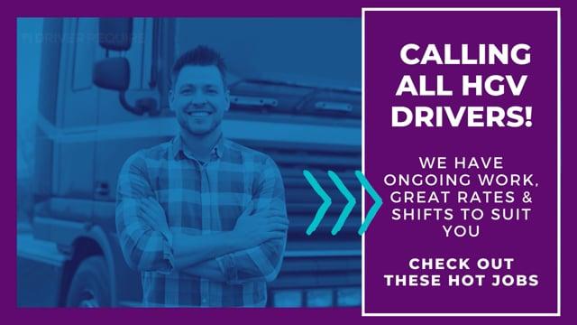 HGV/LGV driver jobs for Class 1, 2 & Van Jobs