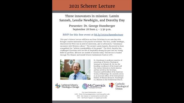 2021 Scherer Lecture
